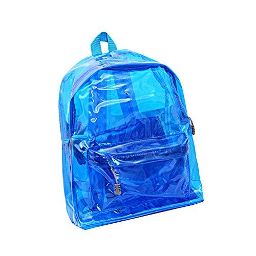 OULII Zaino trasparente scatola da spalla scamosciata borsa da tavola per bambini (blu)