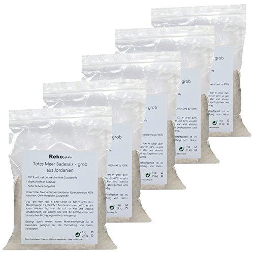 Rekosan Totes Meer Salz 5 x 1 kg Badesalz aus Jordanien Meersalz grob
