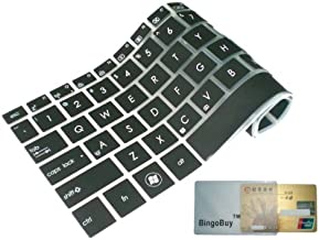 BingoBuy® Semi-Black Ultra Thin Silicone Keyboard Protector Skin Cover for Dell Inspiron 15-3521 15R-5521 15-3531 M531R 15R-5537 i15RV-477B i15RV-4290BLK i15RV-8524BLK i15RV-6143BLK i15RV-10905BLK i15RV-8526BLK i15RV-8525BLK i15RV-6144BLK i15RV-6145BLK 15-3537 i15RV-3763BLK i15RV-1333BLK(if your