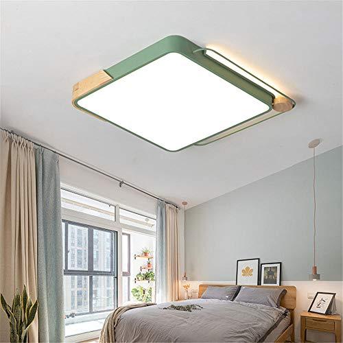 lámpara de techo salon ledLámpara de hierro forjado cuerpo decoración de madera regulable Iluminación para Salón,Comedor,Dormitorio 40 * 40 * 6CM