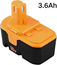 Upgraded 3.6Ah Replace for Ryobi 18V Battery P100 P101 ONE+ P101 130224028 130224007 1322401 130255004 130224028 ABP1801 ABP1803 Cordless Power Tools