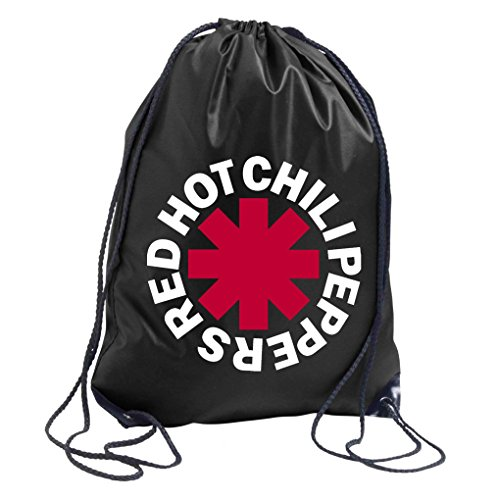 trvppy Turn Bolsa Modelo RHCP Red Hot Chilli Peppers/EN distintos. Colores/bolsa mochila bolsa de deporte bolsa de tela Fashion Hipster, color negro, tamaño Talla única