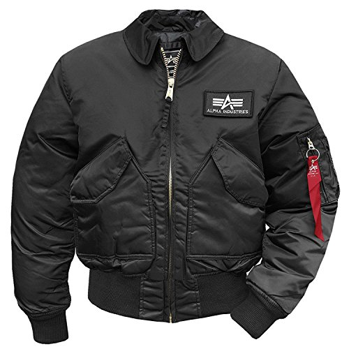 Alpha Industries Herren Jacke CWU 45, Black, XXL