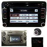 SCUMAXCON Autoradio Radio RCD 510 for Volkswagen Golf Passat Tiguan Caddy Polo with CD Player + AUX + RDS + MP3 + SD Slot