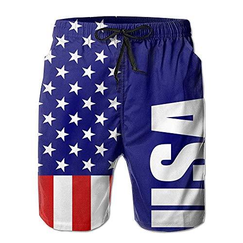 Schnell trocknende lässige Herren-Badehose, halbe Hose, USA-dünne Blaue Flagge. XL Flagge USA Amerika