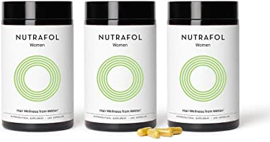 Nutrafol Women Hair Growth For Thicker, Stronger Hair (4 Capsules Per Day) (3 Months Supply)