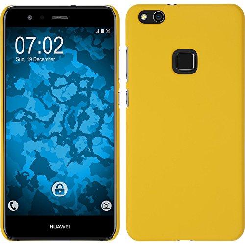 PhoneNatic Custodia Rigida Compatibile con Huawei P10 Lite - gommata Giallo - Cover + Pellicola Protettiva