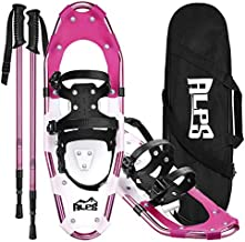 ALPS 25 Inches Light Weight Snow Shoes Set for Women, Girls, Aluminum Snowshoes for Hiking and Outdoor Activities