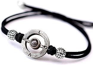 FREEMODE I Love You Bracelet - 100 Languages Love Memory Handmade Rope Adjustable Couple Bracelet, Memorable Gift for Sister and Lover.