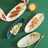 Plato de cerámica para fruta y postre, juego para cuatro platos creativos de estilo nórdico,...