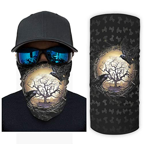 NA Nordisch Wikinger Baum des Lebens Keltisch Odin Ravens Hammer Mythologie Druck Bandana Gesichtsmaske Sonnenschutz Sturmhauben Gesichtsmaske White OneSize