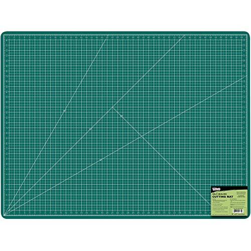 """US Art Supply 36"""" x 48"""" GREEN/BLACK Professional Self Healing 5-Ply Double Sided Durable Non-Slip PVC Cutting Mat Scrapbooking, Quilting, SewingArts & Craft"""