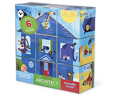 Crocodile Creek - Set de Cubos para Combinar «Little Architect», Juguete de 8,9 cm (Juguete)