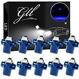 Grandview 10pcs LED T5 Bleu Ampoules LED B8.5 Tableau de Bord Ampoules 1-5050-SMD pour Voiture Tableau de Bord Compteur de Vitesse Instrument Gauge Cluster Voyant