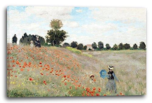 Impresión sobre lienzo (120x80cm): Claude Monet - campo de la amapola