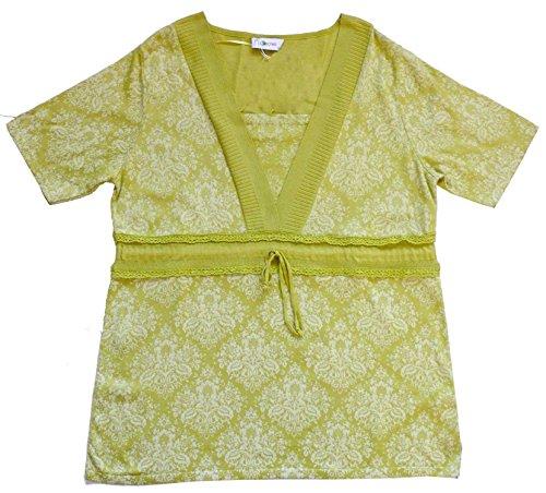 AdoniaMode Damen Tunika-Pullover Empire No Secret Lindgrün Gr.42