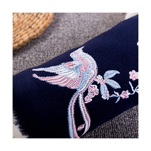 Flower Pattern Winter Faux Fur Muffs Hand Warmers Plush Outdoor Gift