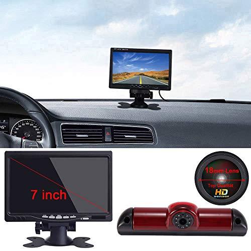 【Super HD Rückfahrkamera Set】7 Zoll TFT LCD Farbdisplay Auto Monitor + 1280*720 Pixel 1000TV Linien HD Nachtsicht Rückfahrkamera für FIAT Ducato X250 X290 Bus Kasten /Peugeot Boxter/Citroen Jumper
