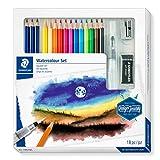 STAEDTLER 61 14610C ST - Caja con lápices acuarelables de grafito y lápices de colores surtidos