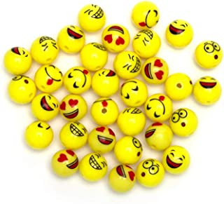 Cousin DIY 34736014 Smiley Bead Fun Pack, 36 Yellow Emoji