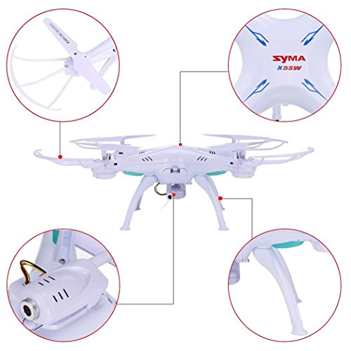 Syma-X5SW-RC-Wifi-Quadcopter-with-03MP-Camera-and-Full-Fluorescent-propellers-landing-skid-for-Syma-X5SW-drone