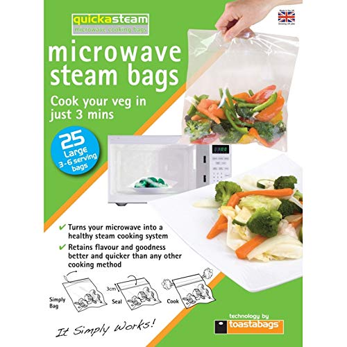 Planit Quickasteam Microwave Steam Bags Large Pack 25