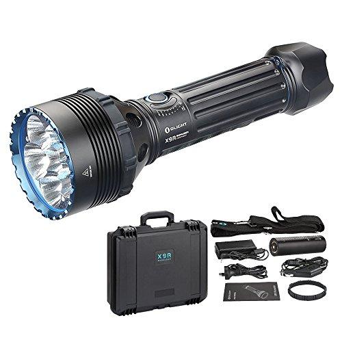 OLIGHT X9R MARAUDER Lampe Torche Super Puissante 25,000 Lumens 630 Mètres Garantie de 10 Ans Avec 6 LEDs de Haute de Gamme 8 Modes Intensité d'illumination