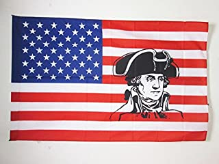 AZ FLAG United States with George Washington Flag 3' x 5' for a Pole - USA Historic Flags 90 x 150 cm - Banner 3x5 ft with Hole