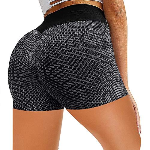 Eteng Pantalones De Cinco Puntos Pantalones Cortos De Moda Pantalones Cortos De Yoga Fitness Pantalones De Cintura Alta Jacquard Honeycomb Bubble Leggings Pantalones De Fitness