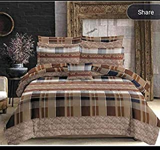 ELSTONE HOME 300 TC Pure Cotton Double Bed Sheet King Size with 2 Pillow Cover (Size :108 Inch x 108 Inch)