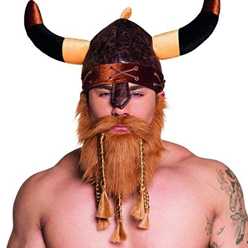 Amakando Barba da Guerriero con trecce - bionda | Barba da Vichingo | Accessorio Carnevale da barbaro | Barba con treccine