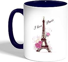 I love paris Printed Coffee Mug, Blue Color