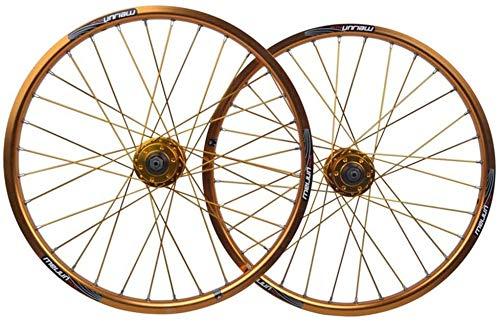QMH Rueda Bicicleta BMX 20 Pulgadas Juego Ruedas Bicicleta Llanta Aleación Doble...