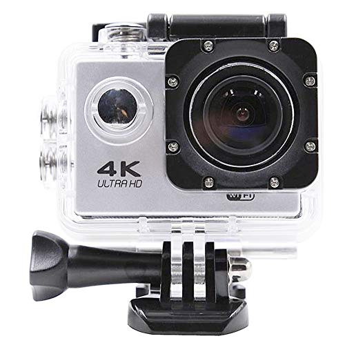 Peng sounded Macchina Fotografica di Sport 2 Pollici LCD WiFi Sport Action Camera 4K 24fps 2K 30FPS Ultra Extral videocamera HD Fotografia Accessori Kit (Color : White, Size : One Size)