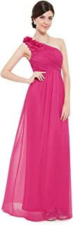 Flower One Shoulder Long Bridesmaids Evening Party Dress 08237