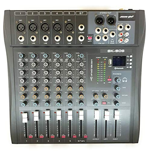 SOUND KING CT-60S DJ SOUND MIXER 6 CHANNEL WITH BLUETOOTH