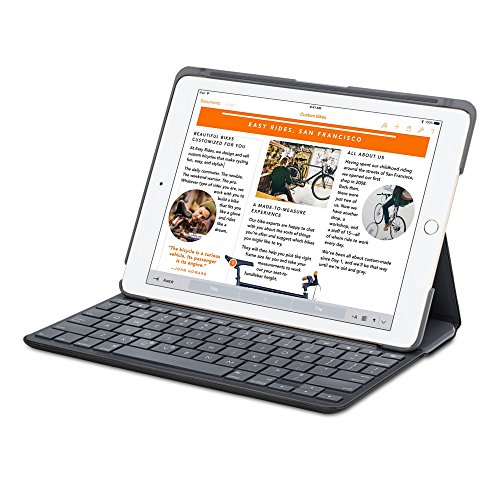 Logitech Canvas Protective Folio Case with Integrated French AZERTY Layout keyboard for iPad Air 2 - Black