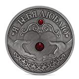 Ruso Corazón Día de la Madre Monedas Conmemorativas Año Nuevo Recuerdos Colección Nueva decoración del hogar para monedas