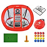 2021 New Pop Up Golf Chipping Net - Golf Practice Nets for Backyard   Indoor/Outdoor Golfing Target Net for Chipping Accuracy & Swing Practice – Lightweight & Portable, Includes Nylon Carry Bag(Red))