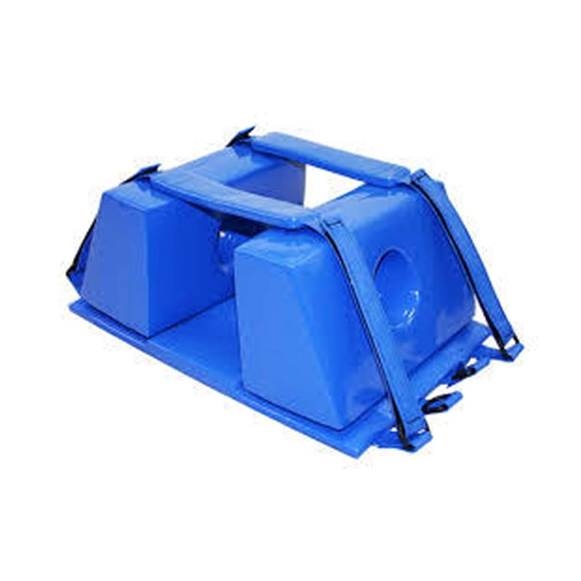 手配する写真を描く逃す背板 - 背骨のための普遍的な緊急の再使用可能な救助のライト級選手のための脊椎板頭部の固定装置,Blue