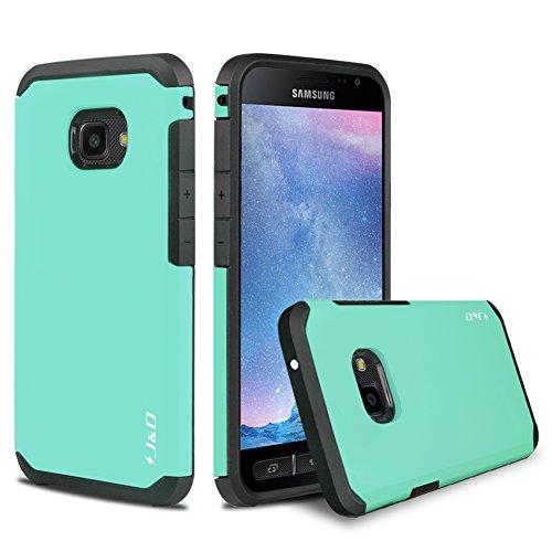 JundD Kompatibel für Galaxy Xcover 4/Galaxy Xcover 4S Hülle, [ArmorBox] [Doppelschicht] [Heavy-Duty-Schutz] Hybrid Stoßfest Schutzhülle für Samsung Galaxy Xcover 4, Samsung Galaxy Xcover 4S - Türkis