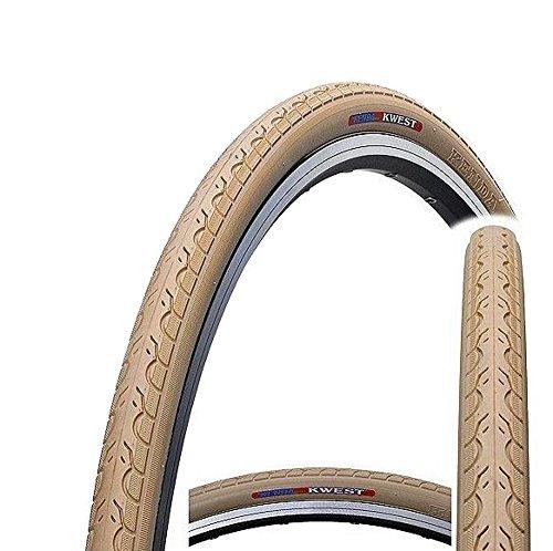 Kenda K193 Kwest 700 C x 28C Urban Fahrrad, Hybrid Road Fixie Slick Bike Tire, Kwest, beige, 28C