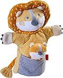 HABA 305756 - Handpuppe Löwe mit Baby, Handpuppe ab 1.5 Jahren