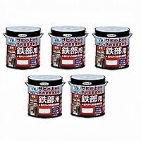 アサヒペン 油性高耐久鉄部用 3L 白 5缶セット