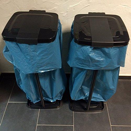 2 Müllsackständer, Werkstoffständer 34 X 31 X 71 CM Schwarz für 120L Säcke