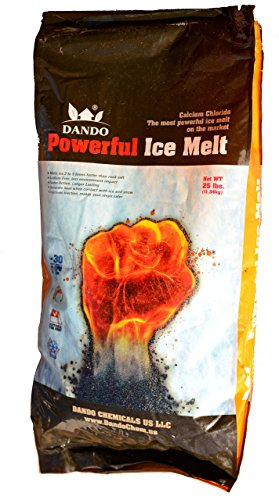 DANDO Powerful Ice Melt 25 lbs Calcium Chloride Pellets