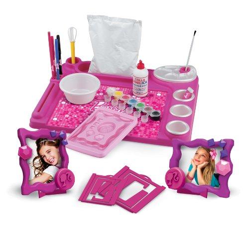 Faro - 6611 - Kit De Loisirs Créatifs - Bureau De L'artiste Multi-activités - Barbie - Pate A Sel - Cadre Photo - Peinture - Dessin 44 X 36 X 5,5 Cm