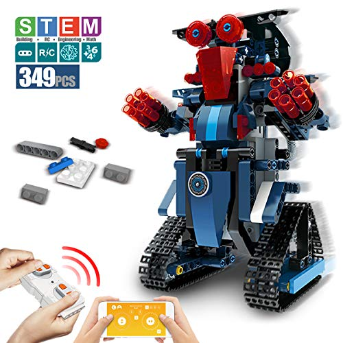 DAZHONG Children's STEM Building Block Robot Remote Control Robot Education kit Remote Control Engineering Science Educational Toy kit Smart Gift for Boys and Girls ( Blue )