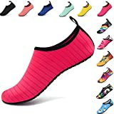 AGOLOD Hommes Femmes Chaussures d'eau Poids Léger Séchage Rapide Pieds Nus Chaussures de Plage Et Piscine Chaussons de Sport...