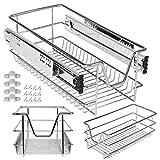 Kesser® Teleskopschublade 30 cm ✓ Küchenschublade ✓ Küchenschrank ✓ Korbauszug ✓ Schrankauszug ✓ Vollauszug ✓ Schublade